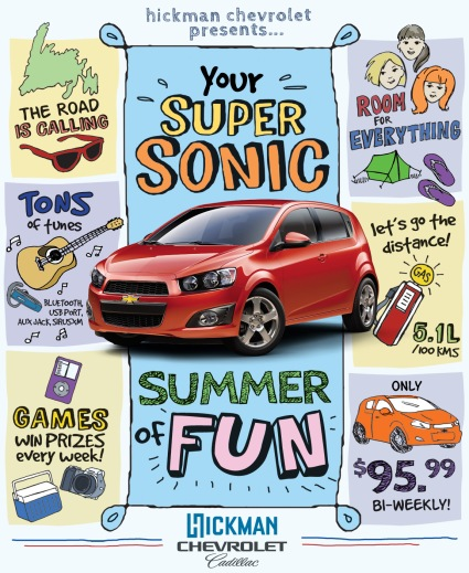 sonic summer print ad
